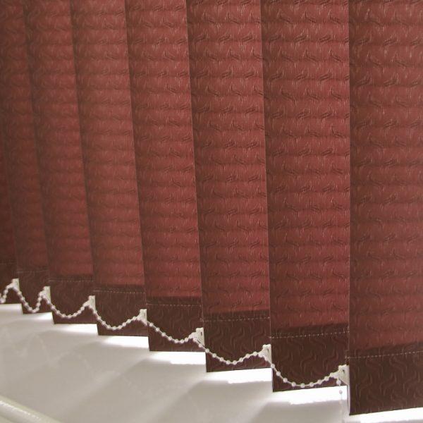 89mm Swirl Brown Vertical Blind -0