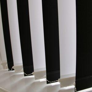 89mm Burmuda Black And Burmuda white alternate Vertical Blind -0
