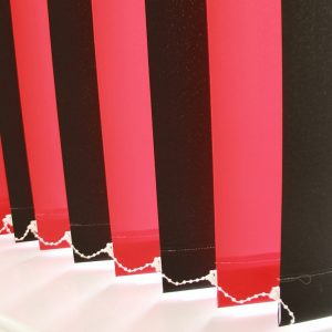 89mm Burmuda Black And Burmuda Red alternate Vertical Blind -0