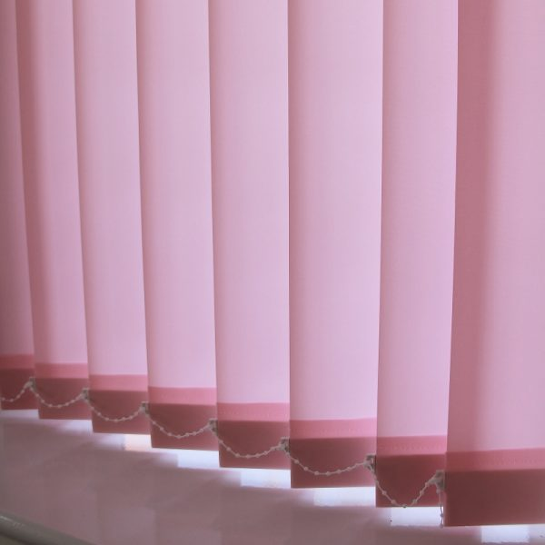 89mm Burmuda Light pink Vertical Blind -0