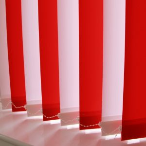 89mm Rustica Red and Rustica White alternate Vertical Blind -0