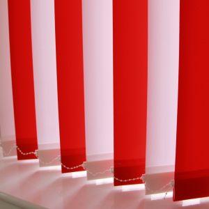 89mm Rustica Red and Rustica White alternate Vertical Blind -0