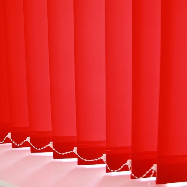 89mm Burmuda Red Vertical Blind -0