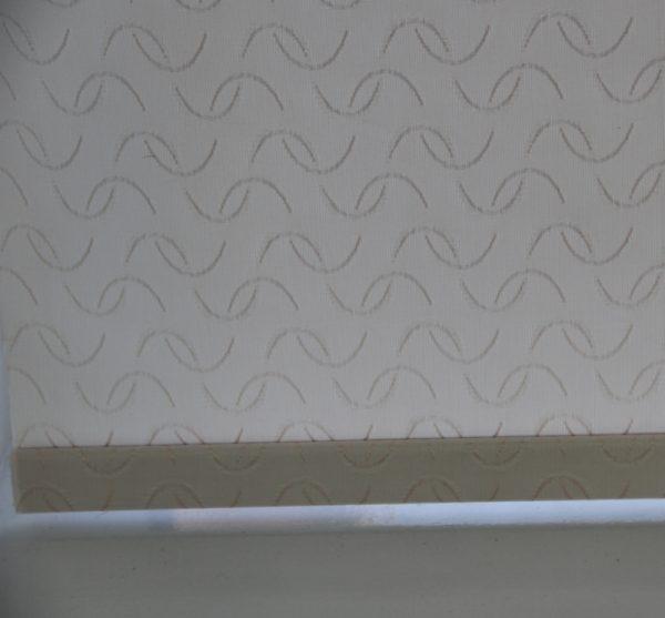 Louvolite Aura Cream Roller Blind With Matching Pelmet-629