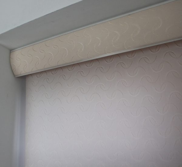 Louvolite Aura Cream Roller Blind With Matching Pelmet-631