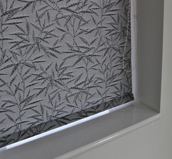 Eclipse Bamboo Black Roller Blind With Matching Pelmet-581