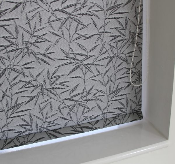 Eclipse Bamboo Black Roller Blind With Matching Pelmet-578