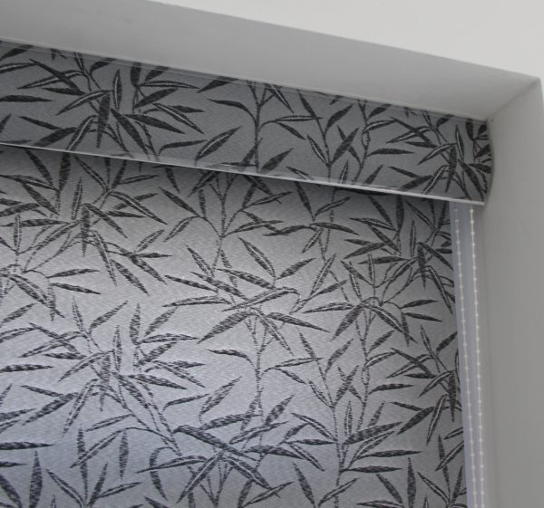 Eclipse Bamboo Black Roller Blind With Matching Pelmet-580