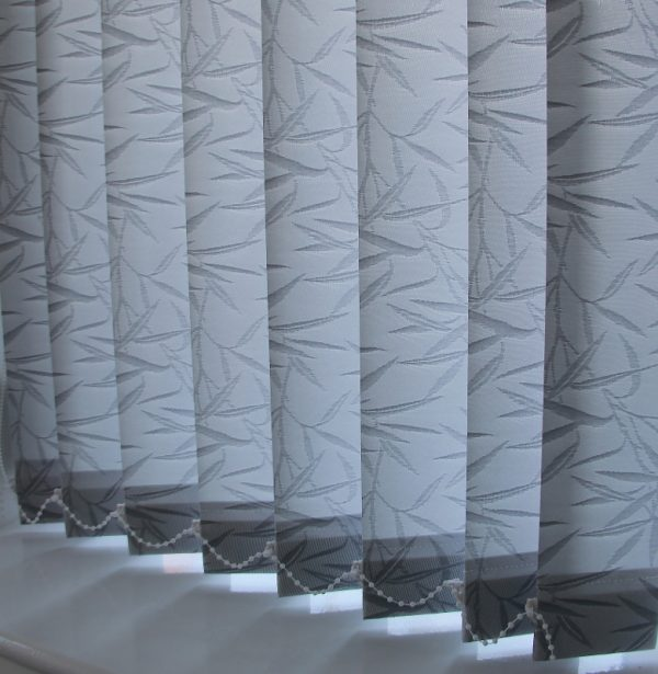 89mm Eclipse Bamboo Silver Vertical Blind -0