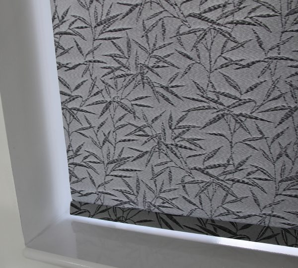 Eclipse Bamboo Black Roller Blind With Matching Pelmet-582