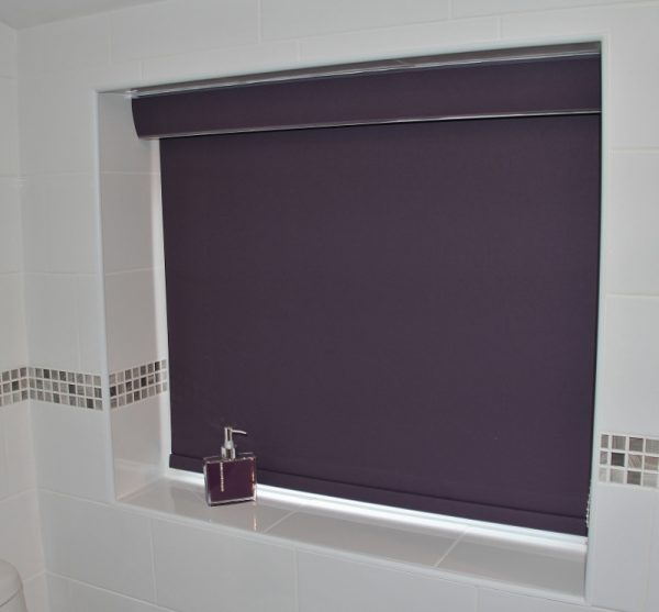 Purple blackout roller blinds cheshire