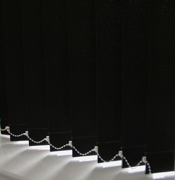 89mm Burmuda Plain Black Replacement Slats-0