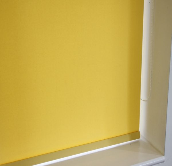 Louvolite Carnival Canary Roller Blind With Matching Pelmet-0