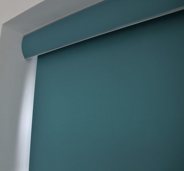 Louvolite Carnival Teal Roller Blind With Matching Pelmet-701