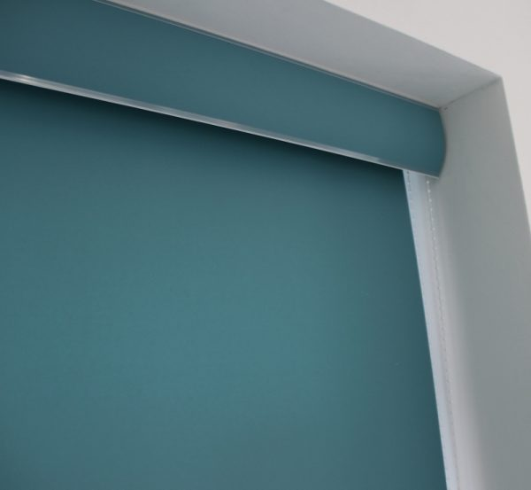 Louvolite Carnival Teal Roller Blind With Matching Pelmet-700