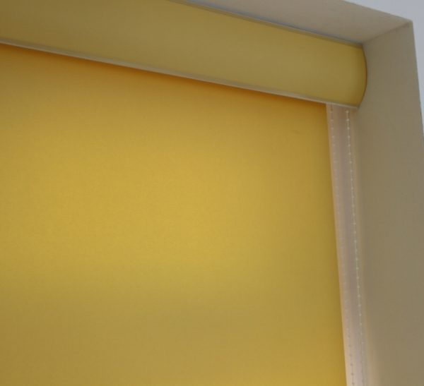 Louvolite Carnival Canary Roller Blind With Matching Pelmet-697