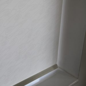 Decorshade Ripple Champagne Roller Blind With Matching Pelmet-0