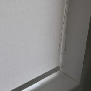 Decorshade Vincent White Roller Blind With Matching Pelmet-0