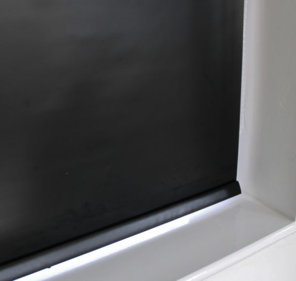 Louvolite Exlite Black Black out Roller Blind With Matching Pelmet-655
