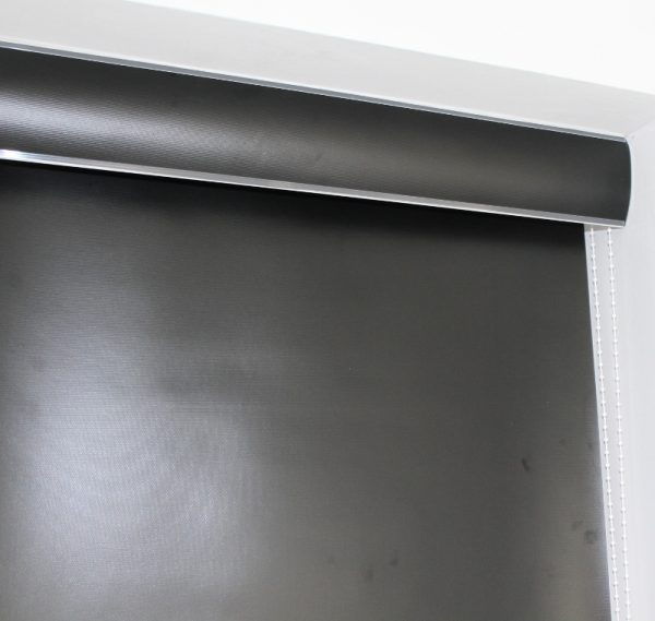 Louvolite Exlite Black Black out Roller Blind With Matching Pelmet-657