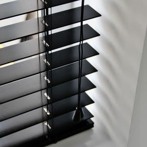 Ebony Wood Venetian Blind With Matching Strings-0