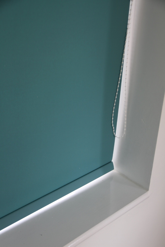 Louvolite Carnival Teal Roller Blind With Matching Pelmet-0