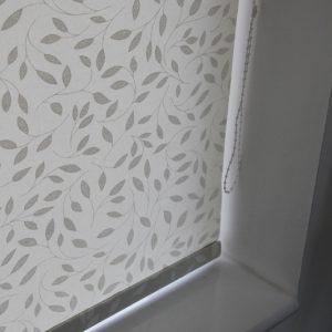 Louvolite Chatsworth Cream Roller Blind With Matching Pelmet-0