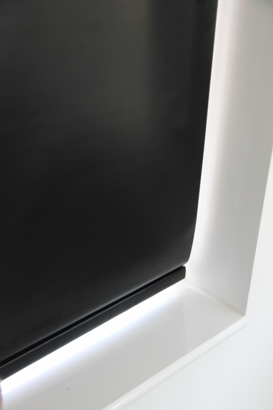 Louvolite Exlite Black Black out Roller Blind With Matching Pelmet-0