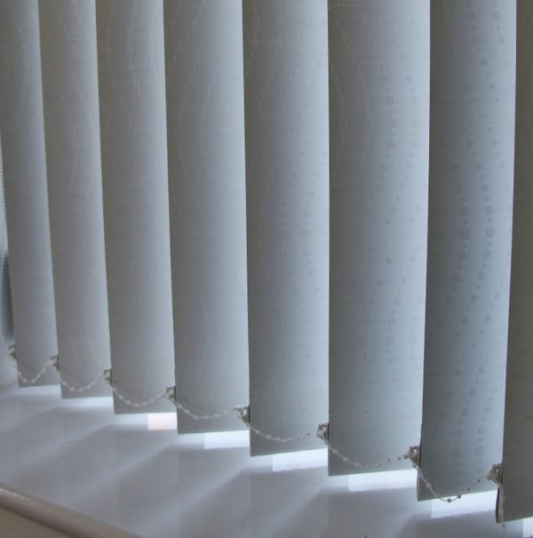 89mm Lucto White Black out Vertical Blind -0