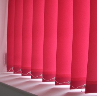 89mm Eclipse Pallette Plain Hot Pink Vertical Blind -0