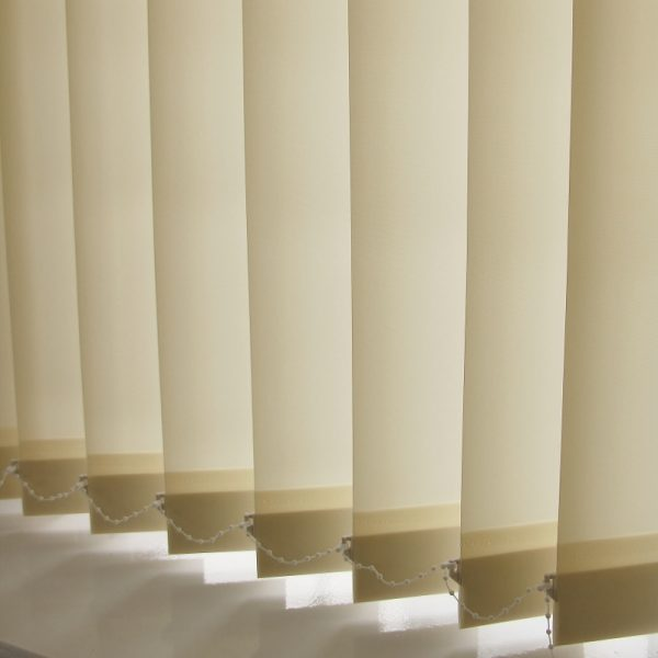 89mm Decorshade Rustica Ivory Vertical Blind -0