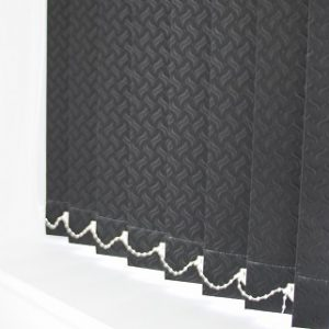 89mm Swirl Black Vertical Blind -0