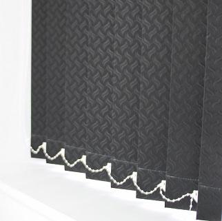 89mm Swirl Black Vertical Blind -0
