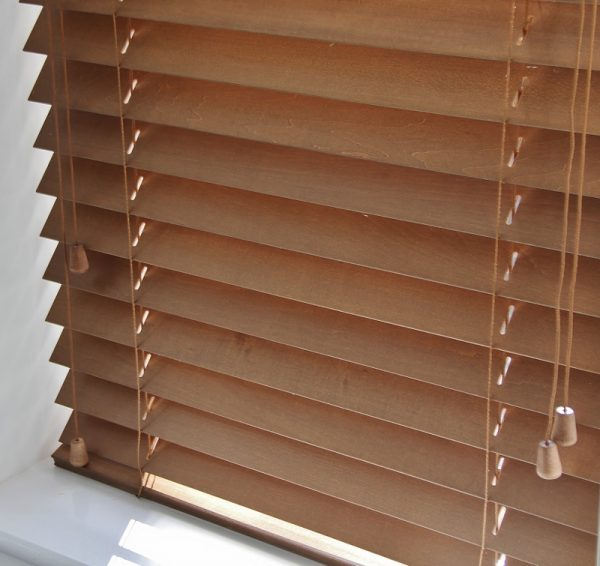 Walnut Wood Venetian Blind With Matching Strings-559