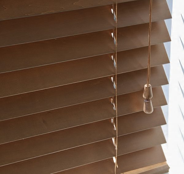 Walnut Wood Venetian Blind With Matching Strings-560
