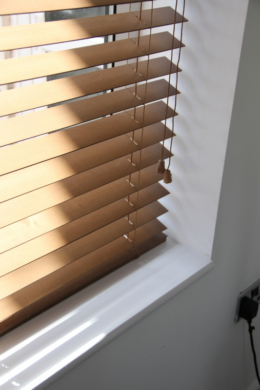 Walnut Wood Venetian Blind With Matching Strings-817