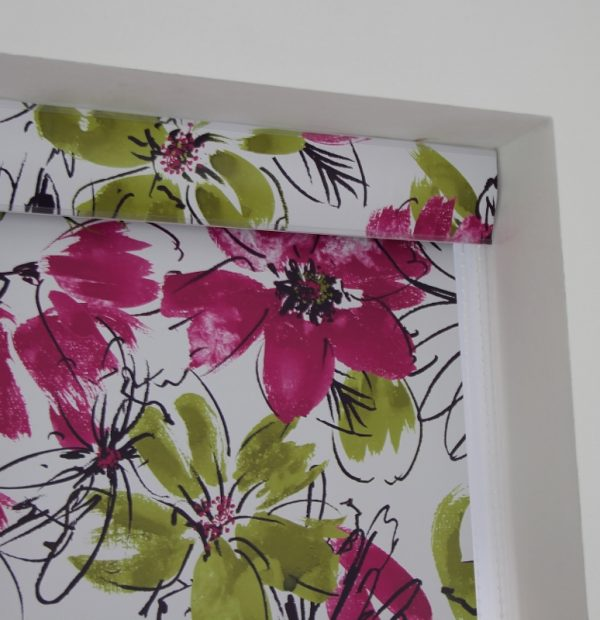 Big pattern blackout roller blind
