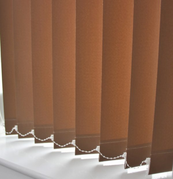 Palette brown vertical tameside blinds