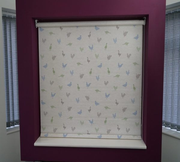 Feathered Friends Bluebell Roller Blind -1108
