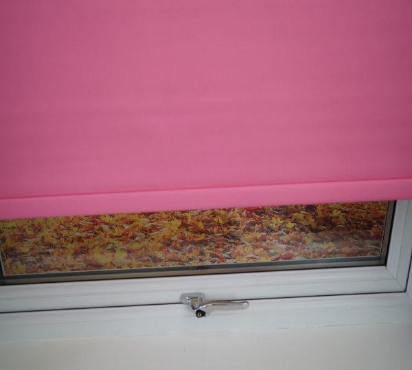 pink roller blind
