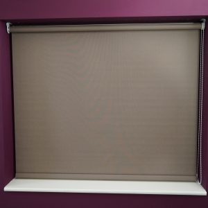 brown roller blind
