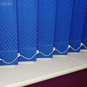 Blue vertical Blind