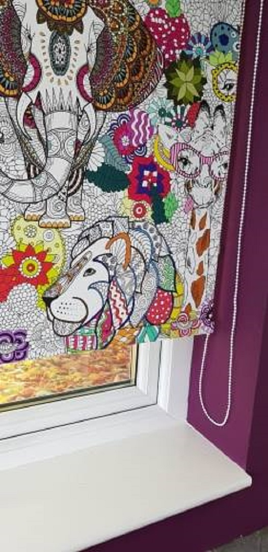 colourful roller blind