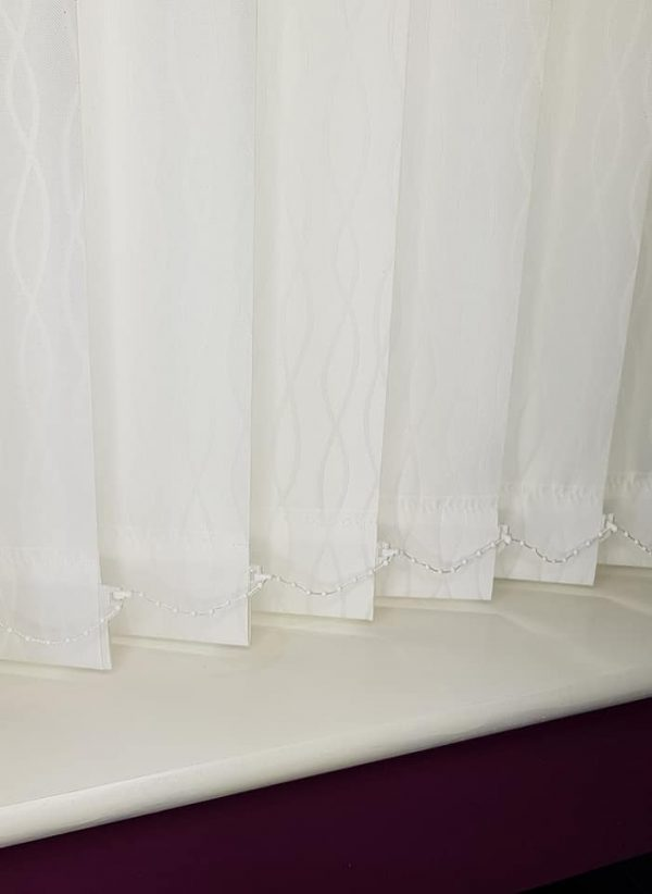 patterned vertical blind