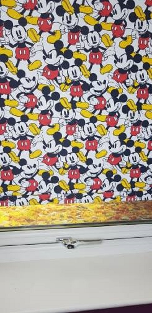 mickey mouse roller blind