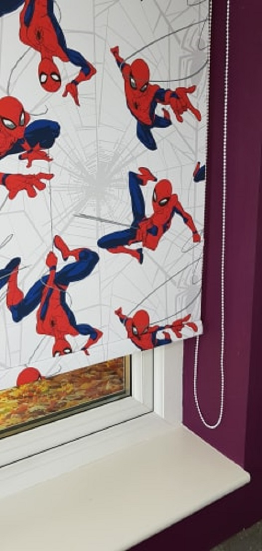 spider man roller blind