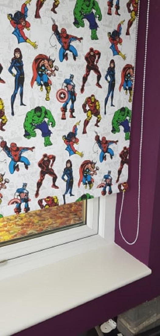 marvel avengers roller blinds
