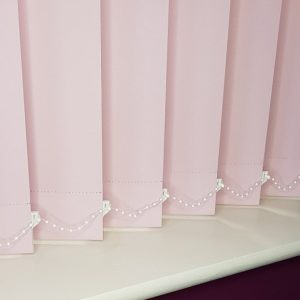 blackout pink vertical blind