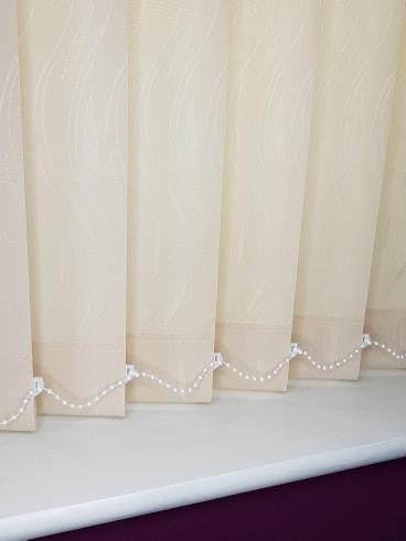 cream vertical blind