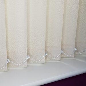 vertical blinds cream